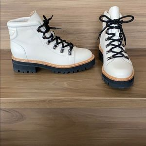 Marc Fisher Issy Boots (white)